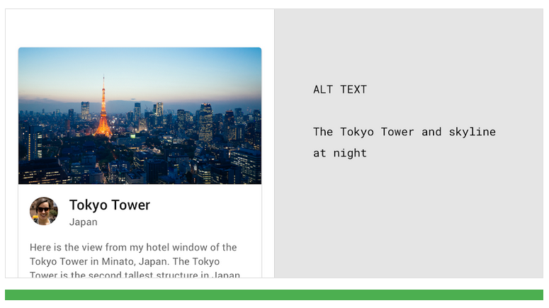 Example on how to write ALT-text with the Tokyo skyline as example.